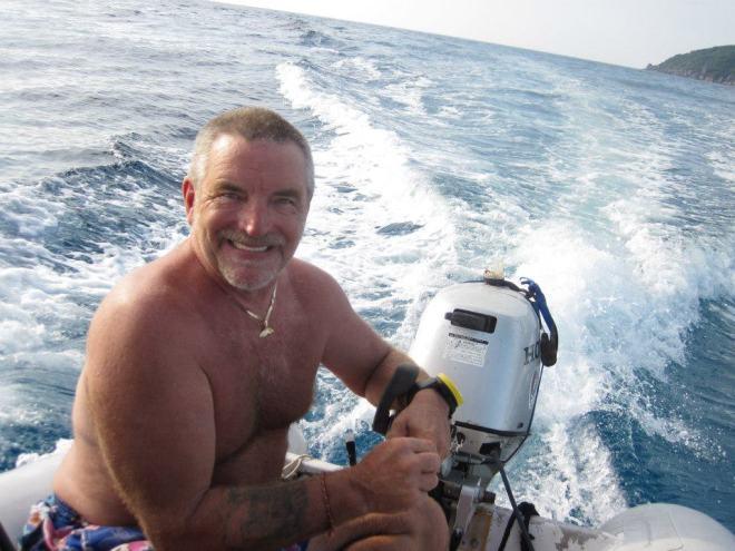 Meet captain Brian, heading towards the horizon.