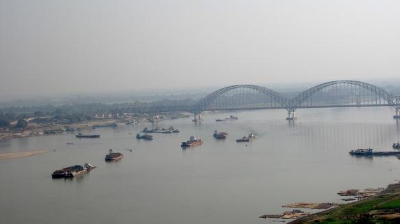 Ayeyarwaddy river and bridge to Sagaing