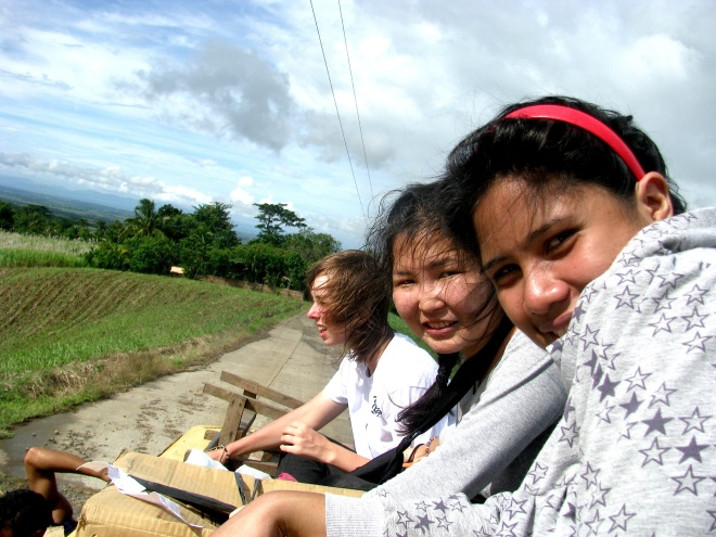That time we rode on top of the bus in Philippines